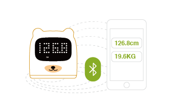 Height and weight data automatically sync through Bluetooth, no need for manual input, smart and convenient.